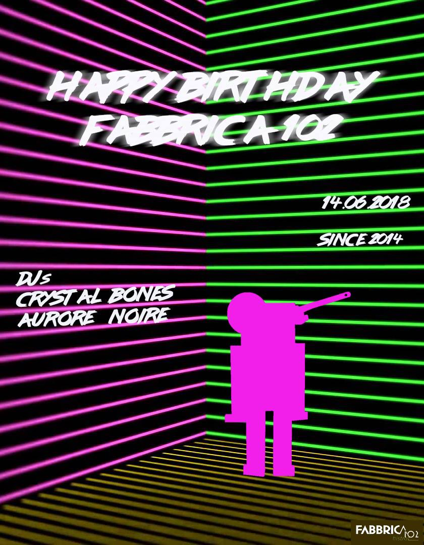 Happy Birthday Fabbrica102 !